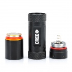 NEW-10BB CREE Q5 3-Mode 310LM White LED Flashlight w/ Battery & Charger - Black (1 x CR123A/16340)
