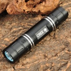 NEW-626B CREE Q5 3-Mode 300LM White LED Flashlight w/ Battery & Charger - Black (1 x 18650)