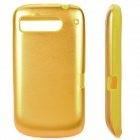 Protective Silicone + Aluminum Back Cover Case for HTC DESIRE S/G12/S510E/G7S - Golden