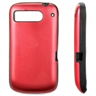 Protective Silicone + Aluminum Back Cover Case for HTC DESIRE S/G12/S510E/G7S - Red