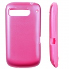 Protective Silicone + Aluminum Back Cover Case for HTC DESIRE S/G12/S510E/G7S - Deep Pink