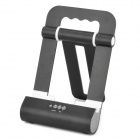 Foldable Charging Docking Stand w/ Speaker for Apple iPod / iPad / iPhone - Black