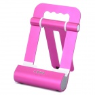 Foldable Charging Docking Stand w/ Speaker for Apple iPod / iPad / iPhone - Deep Pink