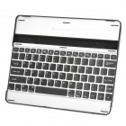 Rechargeable Bluetooth V3.0 78-Key Wireless Keyboard for Ipad 2 - Black + Silver