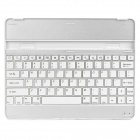 Rechargeable Bluetooth V3.0 78-Key Wireless Keyboard for iPad 2 - White + Silver