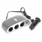 Triple Sockets Car Power Adapter Splitter with Switch & USB Port (12~24V)
