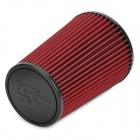 High Flow Air Filter for Car - Red + Black