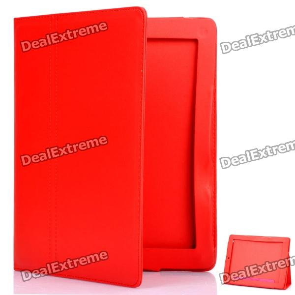 Protective PU Leather Case for The New Ipad - Red