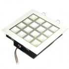16W 1600LM 6000~7500K 16-LED White Light Flat Lamp (AC 85~265V)