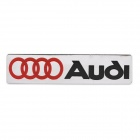 Decorative Audi Logo Style Metal Car Sticker - Black + Red + Silver