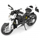 1:12 Ducati Streetfighter Model Motorcycle for Display / Collection - White + Black + Silver
