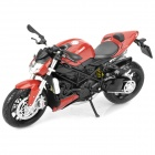 1:12 Ducati Streetfighter Model Motorcycle for Display / Collection - Red + Black + Silver
