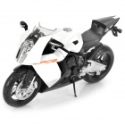 1:12 KTM RC8 Model Motorcycle for Display / Collection - White + Black + Silver