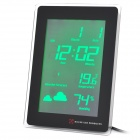 "AC Powered 5.5"" Green Backlight LCD Digital Clock w/ Calendar / Thermometer / Weather Forecast"
