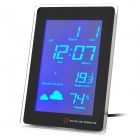 "AC Powered 5.5"" Blue Backlight LCD Digital Clock w/ Calendar / Thermometer / Weather Forecast"