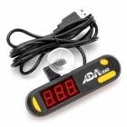 Waterproof 3.75 x 1.9cm LED Aquarium Water Temperature Digital Thermometer