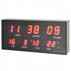 AC Powered Red LED Digital Clock with Calendar / Alarm Clock / Thermometer