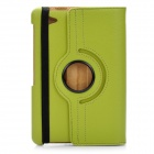 Protective 360 Degree Rotation Holder PU Leather Case for Samsung P6800 - Green