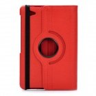 Protective 360 Degree Rotation Holder PU Leather Case for Samsung P6800 - Red
