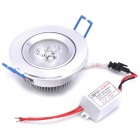 3W 3500K 260-Lumen 3-LED Warm White Light Ceiling Down Lamp (AC 100~245V)
