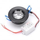 1W 6500K 90-Lumen 1-LED White Light Ceiling Down Lamp w/ Driver (AC 100~245V)