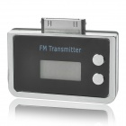 "Stylish 0.8"" LCD Car Charger Mini FM Transmitter for iPhone / iPod - Black"