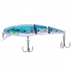 Lifelike Fish Style Fishing Bait w/ Treble Hooks - Blue