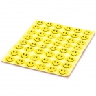 24mm Round Smiling Expression Pattern Self Adhesive Label Stickers - Orange (48x 15 Pack)