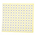 Adhesive Sticker Tag for Clothing Size Labeling and Classification (M Size/15 x 132)