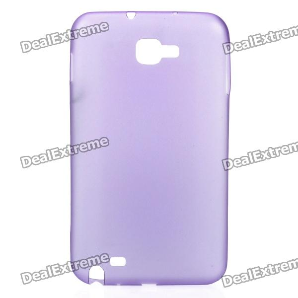 Super Slim 0.5mm Protective Back Cover Case for Samsung Galaxy NOTE I9220/GT-N7000 - Purple protective leather case screen protectors for samsung galaxy note i9220 gt n7000