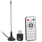 Мини DVB-T Digital TV USB 2.0 Dongle Стик Вт / Пульт дистанционного управления - черный
