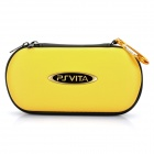 Protective Leather Hard Pouch Case for PS Vita - Yellow