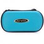 Protective Artificial Leather Carrying Pouch w/ Carabiner Clip for PS Vita - Green