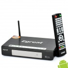 Android 2.2 1080P Media Player w/ LAN/WiFi/USB/SD/HDMI/SATA - Black (512MB DDR3)