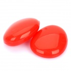Pebble Shaped Silicone Stand for Notebook/Ipad - Red (Pair)
