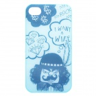 ROCK Mr. Rock Cool Protective PC Case for Iphone 4 / 4S - Light Blue