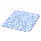 Designer's Celadon Porcelain Pattern PU Leather Smart Cover for iPad 2 - Blue + White
