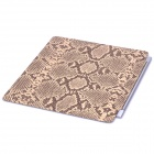 Designer's Snake Skin Pattern PU Leather Smart Cover for iPad 2 - Light Brown