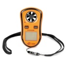 "GM8908 1.5"" LCD Digital Wind Speed Meter Anemometer - Black + Orange (1 x CR2032)"