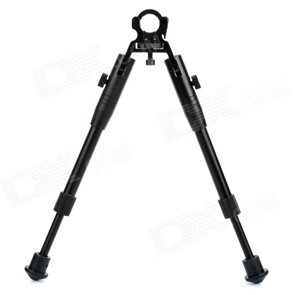 Aleación de aluminio retráctil Tactical Rifle bípode Stand for 19mm barril (máx. 10KG)