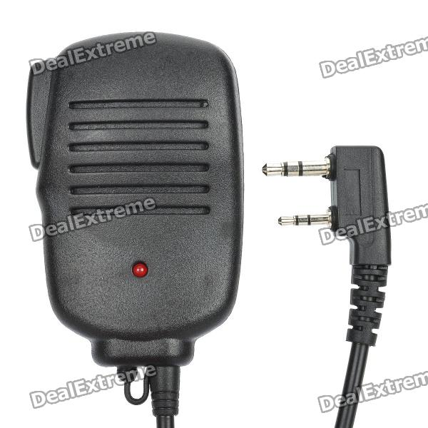 Walkie Talkie Microphone for KENWOOD TK-3107 / TK-3207 / TK-2107 / TK-2207 / TK-308 + More - Black handheld microphone for motorola walkie talkie red