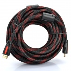 Version 1.3 HD HDMI Male to Male Connection Cable - Red + Black (10m)