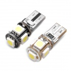 DC 12V 0.6W 16~18LM 6000K 5x5050 SMD LED Car White Light Bulbs with Decoder (Pair)