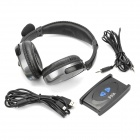 2.4GHz Wireless Headset Headphone with Signal Transmitter - Black
