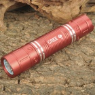 NEW-626B Cree XR-E Q5 300LM 3-Mode White Light LED Flashlight w/ Battery & Charger - Red (1 x 18650)