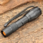 Adjustable Focus Zoom XM-L T6 5-Mode 900LM White 1-LED Waterproof Flashlight - Black (1x18650/3xAAA)