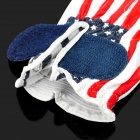 Stylish USA Flag Pattern Golf Left Hand Glove - Red + Blue + White (M-Size)