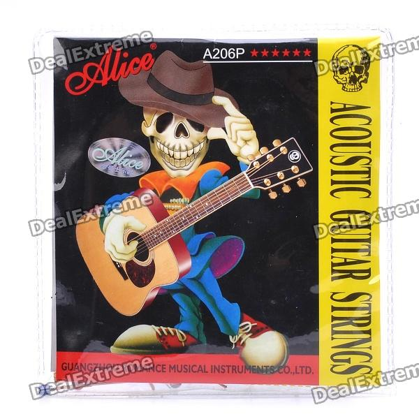 ALICE A206P 0.28/0.38/0.61/0.81/1.07/1.32mm Strings Set for 40~42 Acoustic Guitar (6-Set) 3 sets alice aw466 light acoustic guitar strings plated high carbon steel