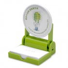 Unique Memo Pad Holder - Green