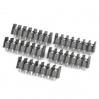 DIY 7-Pin/7.62 Terminal Connector - Black + Silver (5-Piece Pack)